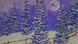 winter art scene