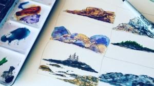 Paint Rocks Using Watercolor